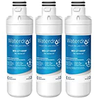 Waterdrop LT1000P Replacement Refrigerator Water Filter, Compatible with LG LT1000P, LT1000PC, MDJ64844601, 3 Pack