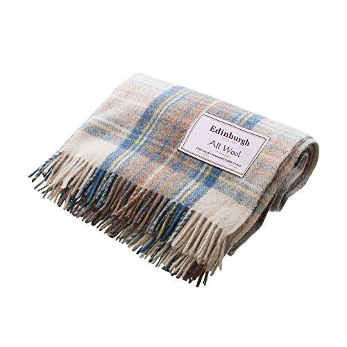 Edinburgh 100% All Wool Scottish Tartan Rugs Stewart Muted Blue (One Size) by Edinburgh Lambswool