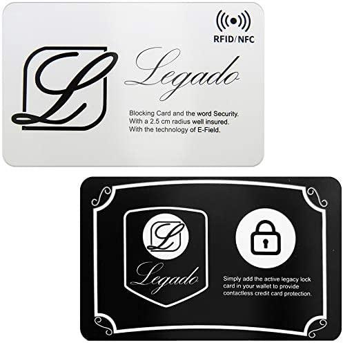 Protector de Tarjeta frid LEGADO para Billetera o Tarjetero Hombre Mujer con protección sin Contacto y Bloqueo NFC Protectora Anti RFID. (Pack 2 ...