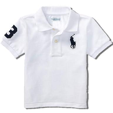 1084c9f9c9b8 Amazon.com  Ralph Lauren Baby Boy Big Pony Cotton Mesh Polo Shirt ...