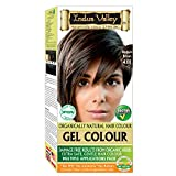 Indus Valley Permanent Gel Hair Color Medium Brown 4.0 (upto 4 Applications) with Orange Aroma