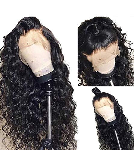 Eva 250% Density 360 Lace Frontal Wig Pre Plucked With Baby Hair Brazilian Lace Front Human Hair Wigs Body Wave Remy Hair Wigs,Natural Color,16inches,180%