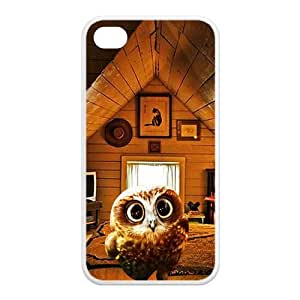 Newly Fashion Brand New White and Black Lovely Owl 100%TPU Cases for iPhone4 iPhone4S by icecream design