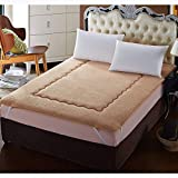 GJFLife Thickened Velvet Tatami Mattress Protector Pad, Collapsible Student Dormitory Mattress Topper Mats Futon Single Double Sleeping pad-A 120x200x5cm