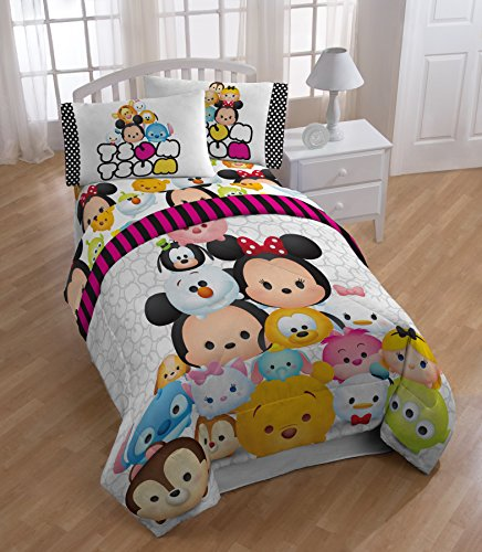 Tsum Tsum Faces Twin Comforter and Sheet Set