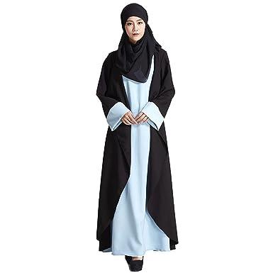 Sunching falda musulmana dos piezas vestir islámica mujer dama ...