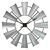 Cheap Aspire Farmhouse Windmill Wall Clock, Silver