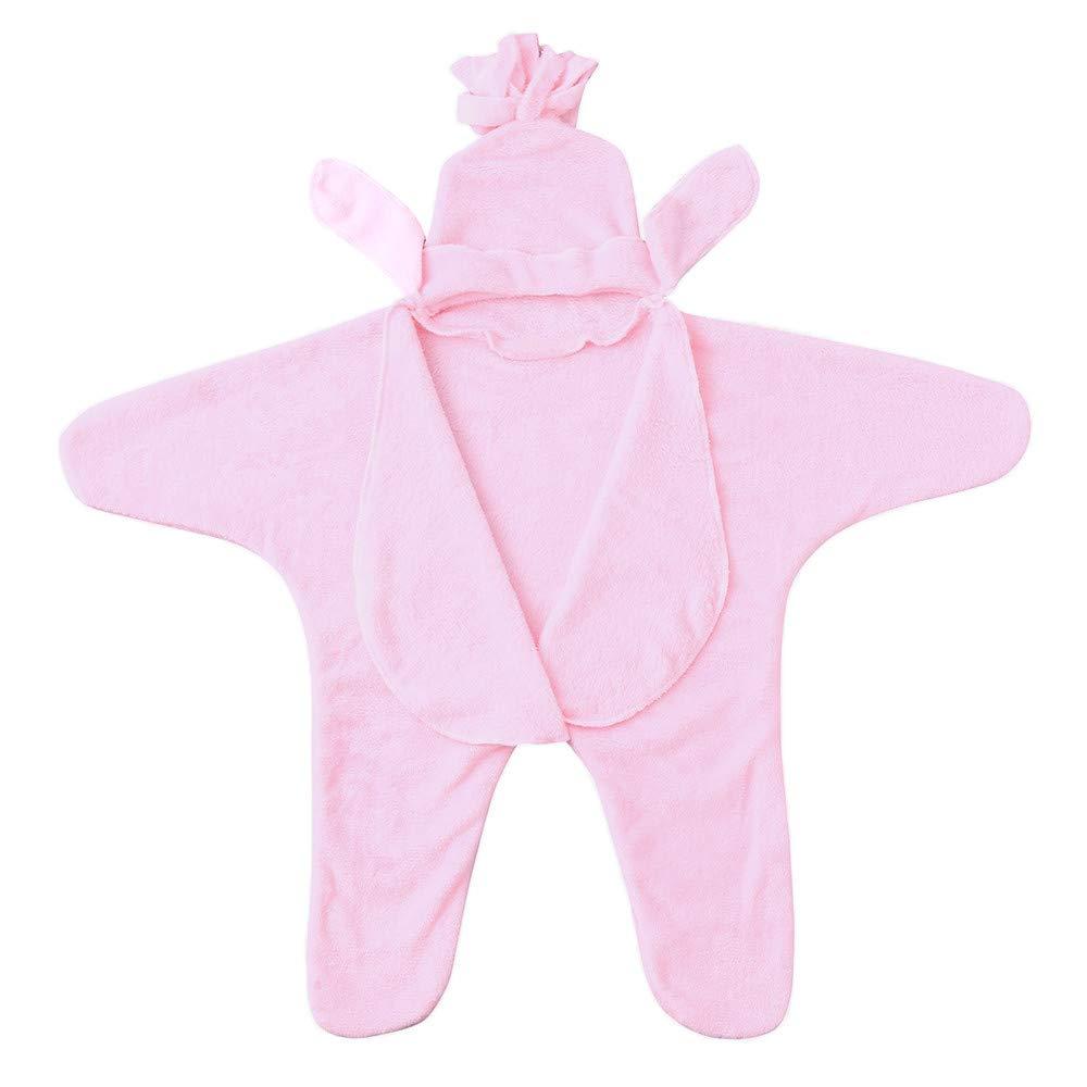 KONFA Toddler Newborn Baby Girls Boys Tassels Hooded Sleep Bag,Sleepwear Swaddle Wrap Blanket Wearable Warm Sleepers