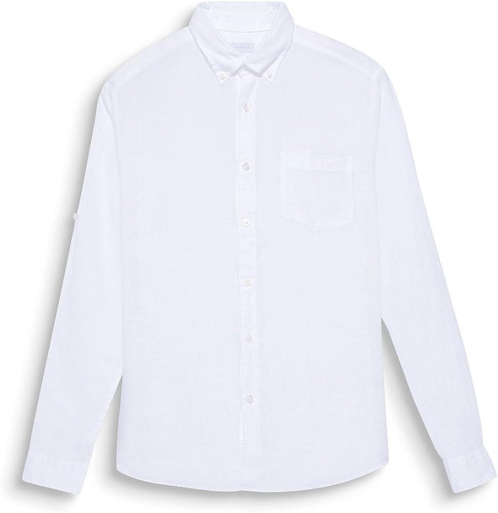 Esprit Camisa Mujer 048EE2F007100 Lino Blanca XXL: Amazon.es: Ropa y accesorios