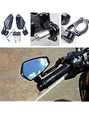"""HXKGG 1 paar 7/8""""22mm Universele Motorfiets Aluminium Achteruitrijcamera Zwart Handvat Bar End Side Achteruitkijkspiegels"""