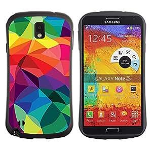 Suave TPU GEL Carcasa Funda Silicona Blando Estuche Caso de protección (para) Samsung Note 3 / CECELL Phone case / / Polygon Lines Vibrant Os Colorful /