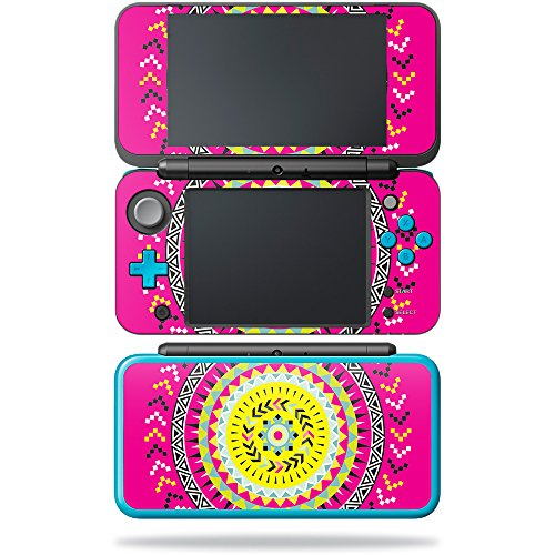 Price comparison product image Skin for New Nintendo 2DS XL - Pink Aztec| MightySkins Protective, Durable, and Unique Vinyl Decal wrap cover | Easy To Apply, Remove, and Change Styles | Made in the USA