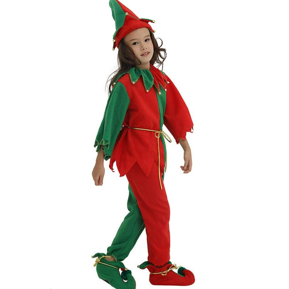 GUAN - Disfraz de Elfo de Navidad para niña M: Amazon.es: Jardín