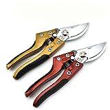 LEEPRA Garden Scissors Pruning Shears Garden Pruners Flower Cutter Grafting Tool Scissors Trimmer Cutter (Gold)