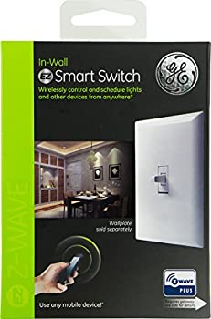 Ge Z-wave Plus Wireless Smart Lighting Control Smart Toggle Switch, Onoff, In-wall, White, Works With Amazon Alexa (Hub Required), 14292 9