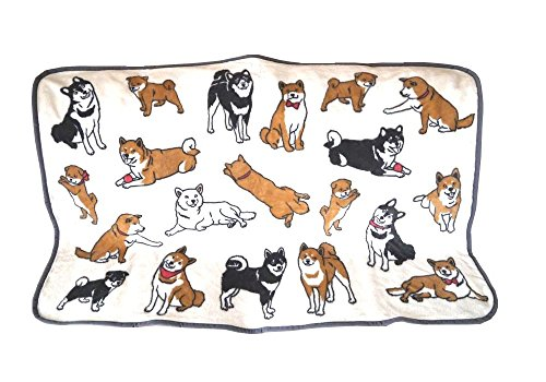 Cute Shiba Inu Micro Fleece Soft Blanket by Calor