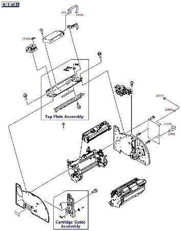 Sheet Metal Plate HP RG5-6907-030CN Laser//Scanner Support Assembly