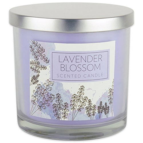 Home Traditions 3-Wick Evenly Burning Highly Scented 4x4 Large Jar Candle with 45+ Hour Burn Time (14.5 Oz) - Lavender Blossom Scent