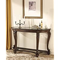 Norcastle Dark Brown Wood Sofa Table