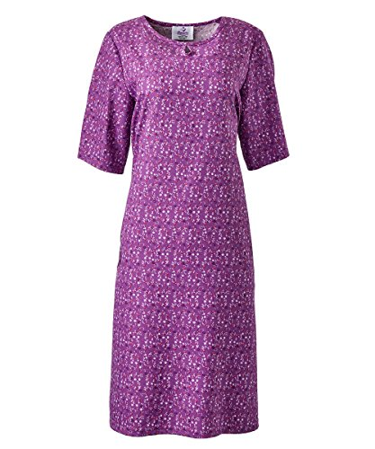 Silverts Disabled Elderly Needs Adaptive Snapback Dress For Women - Nursing Home Dress - Designed for Individuals who require Caregiver Assisted Dressing - Violet SMA