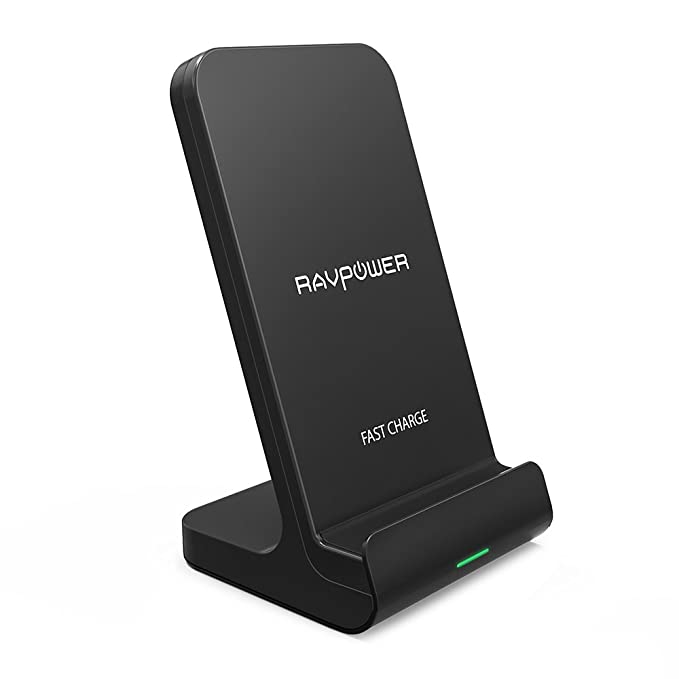 Wireless Charging Stand RAVPower 2 Coils Qi Certified Fast Wireless Charger  10W Qi for Galaxy S9 d5c363a2a2