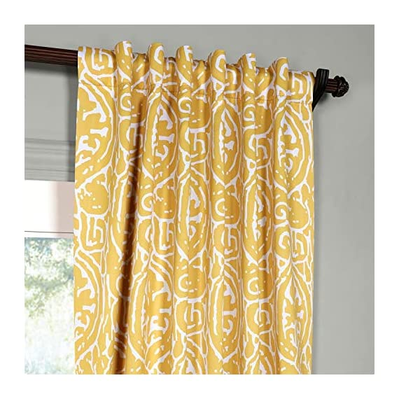 HPD Half Price Drapes BOCH-KC16075-84 Blackout Room Darkening Curtain (1 Panel), 50 X 84, Abstract Misted Yellow - Sold per panel 100Percent polyester 3Pole pocket with back tabs - living-room-soft-furnishings, living-room, draperies-curtains-shades - 51yvSyfZzhL. SS570  -