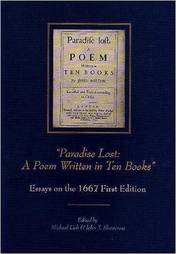 """Laden Sie kostenlos PDF-eBooks online herunter """"Paradise Lost: A Poem Written in Ten Books"""": Essays on the 1667 First Edition (Medieval & Renaissance Literary Studies) 0820703931 in German PDF ePub iBook"""