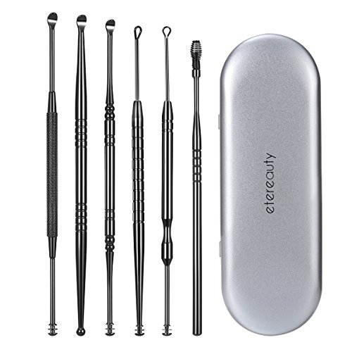 Ear Wax Removal, ETEREAUTY Ear Pick Stainless Steel Medical Grade with Storage Box and Cleaning Brush (Best Thing To Remove Ear Wax)