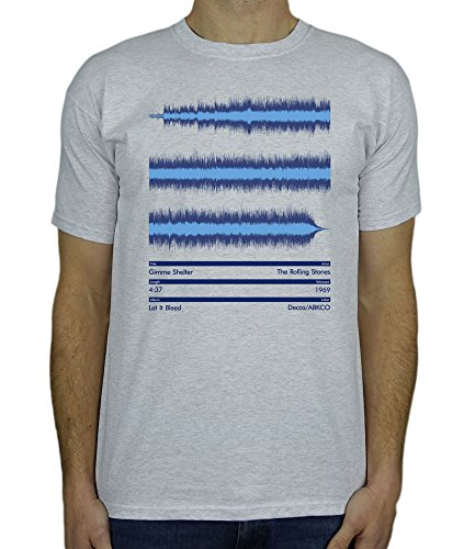 Wave Shelter - The Rolling Stones - Gimme Shelter - Music Sound Wave Mens Band Gift T-Shirt Ash Grey 2XL