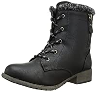 Jellypop Women's Mousse Engineer Boot, Black Small, 6.5 M US