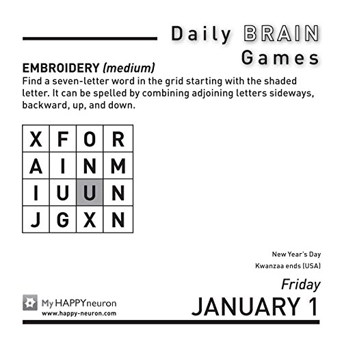Daily Brain Games 2016 Day-to-Day Calendar Calendar – Day to