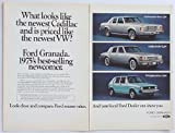 1975 Ford Granada Looks Like Cadillac Priced Like VW 2-Page Original Print Ad (476)