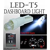 JDM 5 PRS Pure White T5 Neo Wedge 1 SMD 8mm Cluster Instrument Dash Light US