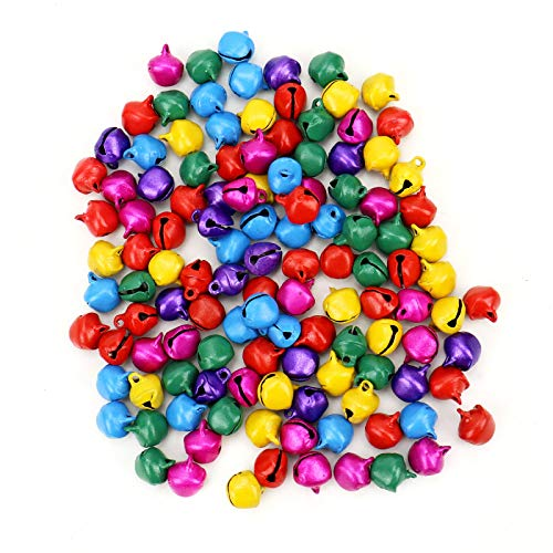 - WSSROGY 300 Miniature Assorted Holiday Colored Jingle Bells,Small Bell Mini Bells Bulk for Christmas, Party & Festival Decorations and Jewelry Making
