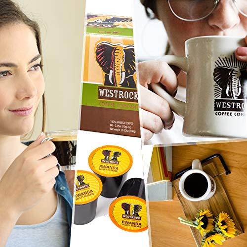 Westrock Coffee Rwanda Select Reserve Dark Roasted Single Serve Gourmet Coffee 80 Count cups