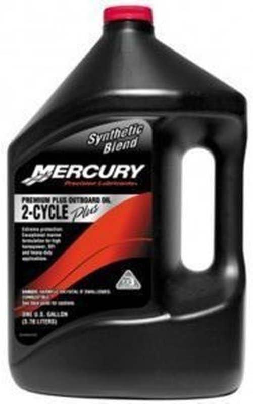 MERCURY Genuine Premium Plus 2-Stroke Synthetic Blend Oil Gal - 858027K01