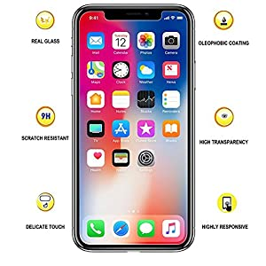 TheCoos [3-Pack] Tempered Glass Screen Protector for Apple iPhone Xs & iPhone X