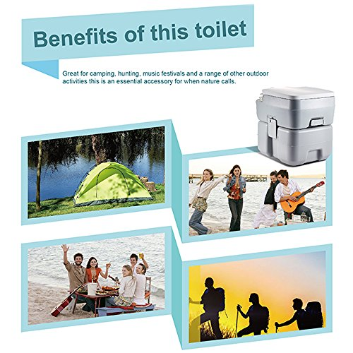 CHH-1010 10L Portable Removable Flushing Toilet Outdoor Camping Potty Gray