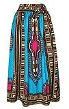 Oberora-Women Retro Africa Print High Waist Bandage Dashiki Maxi Skirts 1 M