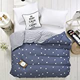 Zhiyuan Triange Pattern Reversible Dark Slate Gray Duvet Cover Comfortor Case, Queen