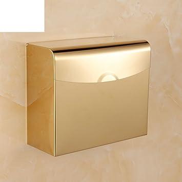 Oro acero inoxidable tejido caja/inodoro alargado de papel ...
