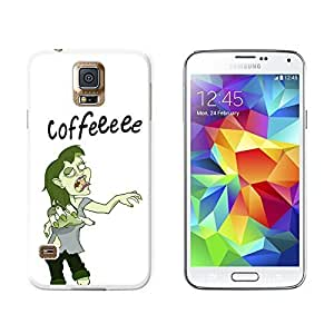 New Style Coffee Zombie Girl - Funny - Snap On Hard Protective Case for Samsung Galaxy S5 - White wangjiang maoyi