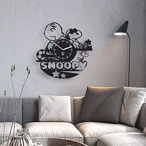 Amazon.com: Snoopy Dog Cartoon, Disney Pictures, Vinyl Wall Clock, Best Gift for Kids, Girl, Vinyl Record, Kovides, Kidroom Decoration Living Room ...