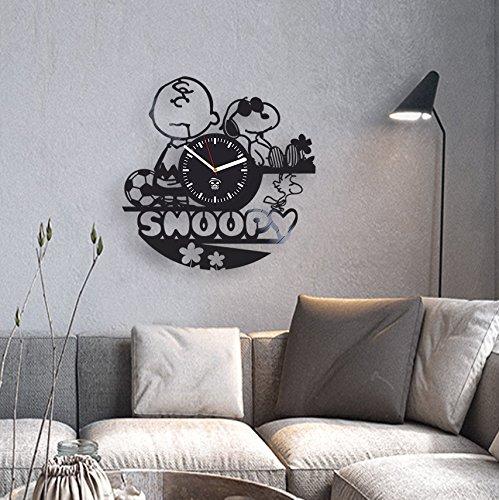 Amazon.com: Snoopy Dog Cartoon, Disney Pictures, Vinyl Wall Clock, Best Gift for Kids, Girl, Vinyl Record, Kovides, Kidroom Decoration Living Room ...