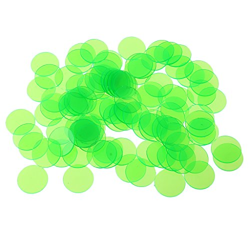Poker Game 500 Piece (Jili Online 500 Pcs Plastic Poker Chips Bingo Board Games Markers Tokens Kids Counting Toy Family Club Party Supplies Green)