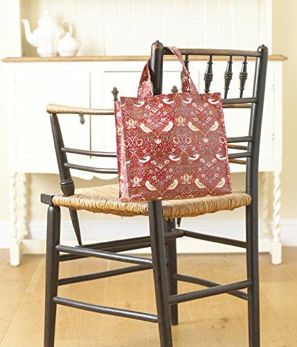 Small Morris Licensed Oilcloth Bag Shopping Strawberry Pvc Thief Red Bag William Tote BwwqX