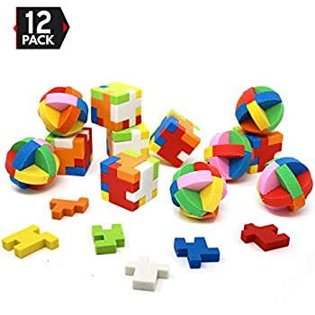 Amazon com: LoveInUSA Eraser Puzzles Set, 3 Styles Erasers for Kids