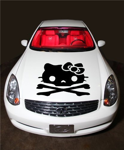 hello kitty car hood decal - 5
