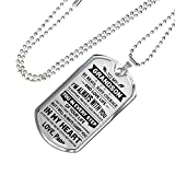 John-dhh Love Papa And Grandson - To My Grandson Dog Tag Pendant From Papa LIMITED EDITION - Personalized Gifts On Birthday Anniversary - Luxury DOG TAG chain - Includes gift box!