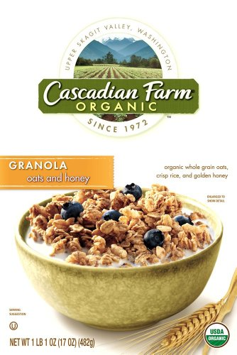 Cascadian Farm Oats and Honey Granola, 17-Ounce Box (Pack of ()